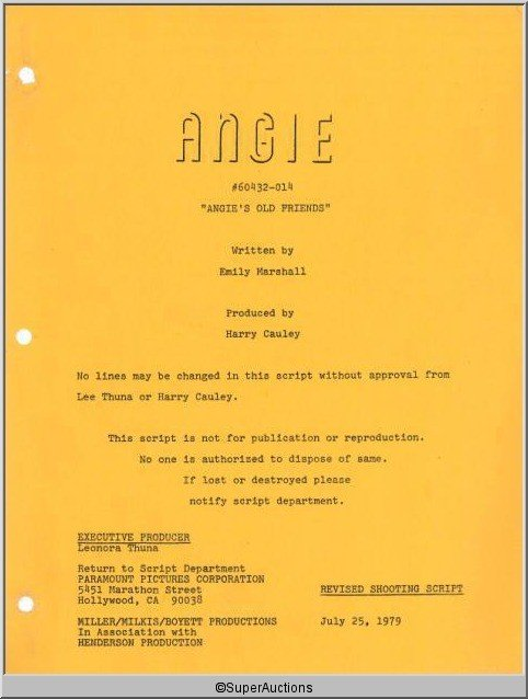 91: Angie Television Script