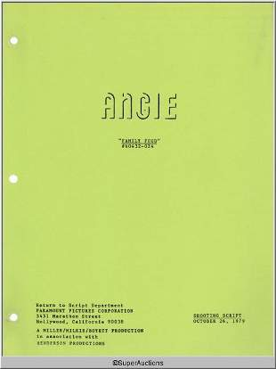 Angie Television Script