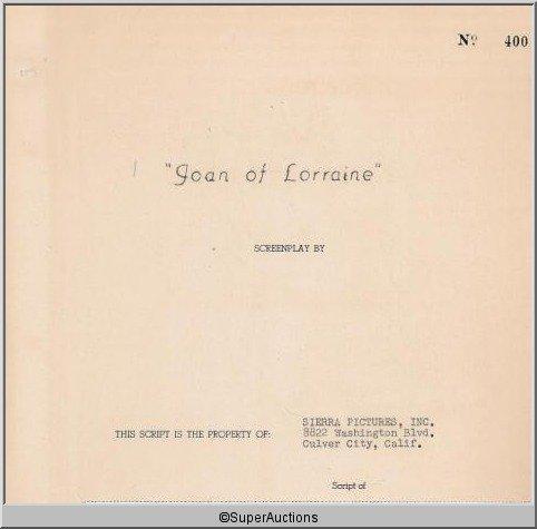 3: Joan of Lorraine {Joan of Arc} Movie Script