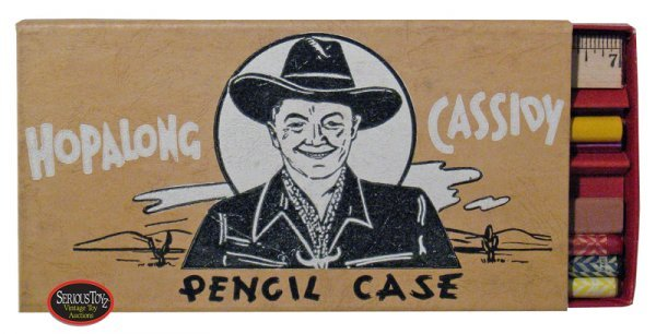 "17: 1950 ""Hopalong Cassidy Pencil Case"" w/ Rare Paper I"
