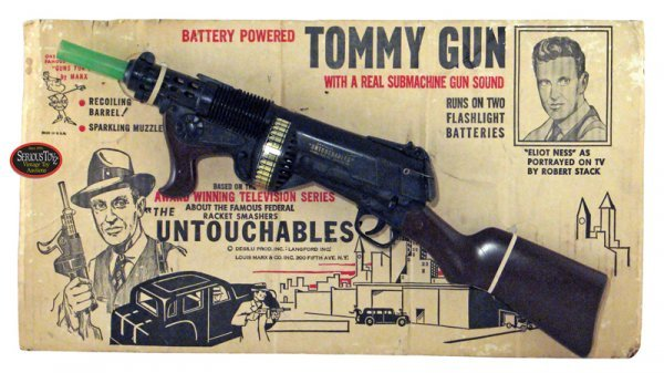 "20: 1960 Marx ""Untouchables Battery Powered Tommy Gun w"