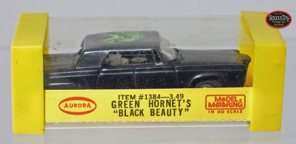 "21: 1967 Aurora ""Green Hornet's Black Beauty"" Slot Car"
