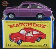 129: Scarce 1967 Matchbox Volkswagen 1600TL #67B in Box