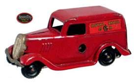 """165: 1936 Tri-ang Toys Tin Wind-up """"Ford Royal Mail Van"""