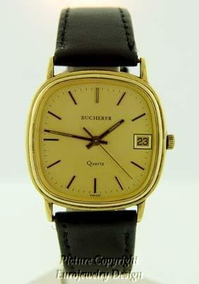 004: Vintage Bucherer 18kt Yellow Gold Watch