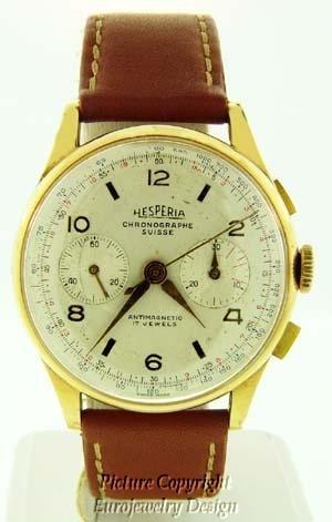 005: Hesperia Chronograph Watch Circa 1940th