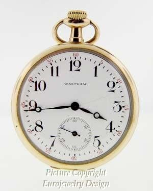 008: Estate Waltham Open Face Pocket Watch 1900th
