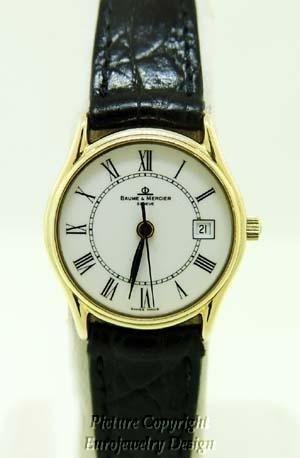 015: Vintage Baume & Mercier 14kt Yellow Gold Watch