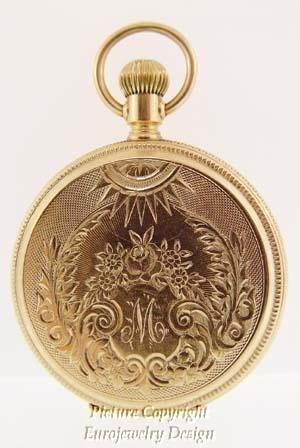 020: Vintage Illinois 14kt Gold Pocket Watch Rare