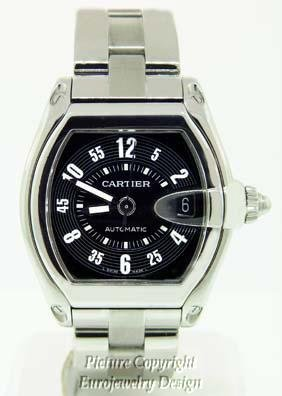 021: Cartier Roadster Automatic Watch Black Dial