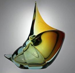 Barbini 1950s Sommerso Conch Sea Shell w/ Label
