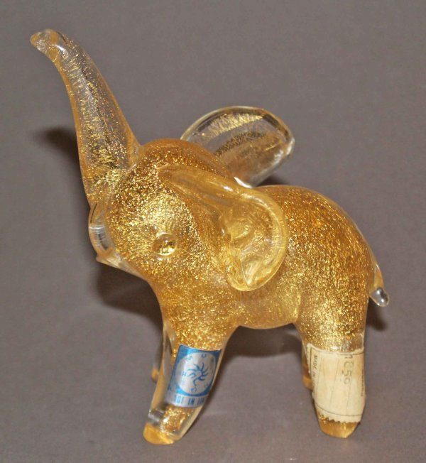 21: RARE Elephant w/ Gold & Original Labels by CENEDESE