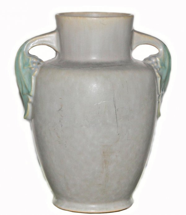 9: Gray Amphora with Green Leaf Handles