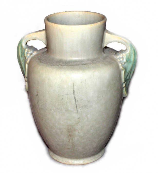 10: Gray Amphora with Green Leaf Handles