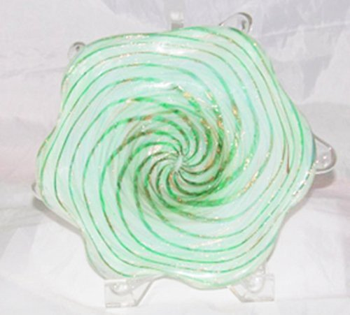 19: Starry Night Green & White Dish By FRATELLI TOSO