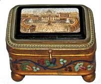 151: C. Roccheggianni Micromosaic Casket Jewelry Box