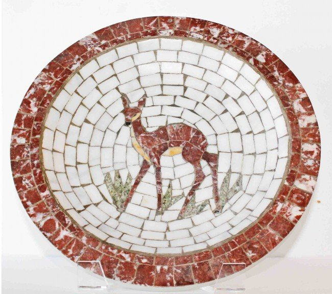 1: Heide Danish Mosaic Plate w/Deer Design