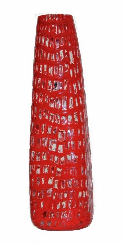 5: Red OCCHI Vase by SCARPA signed Venini Italia