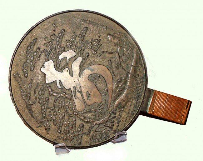 9: Edo Period Japanese Bronze Mirror
