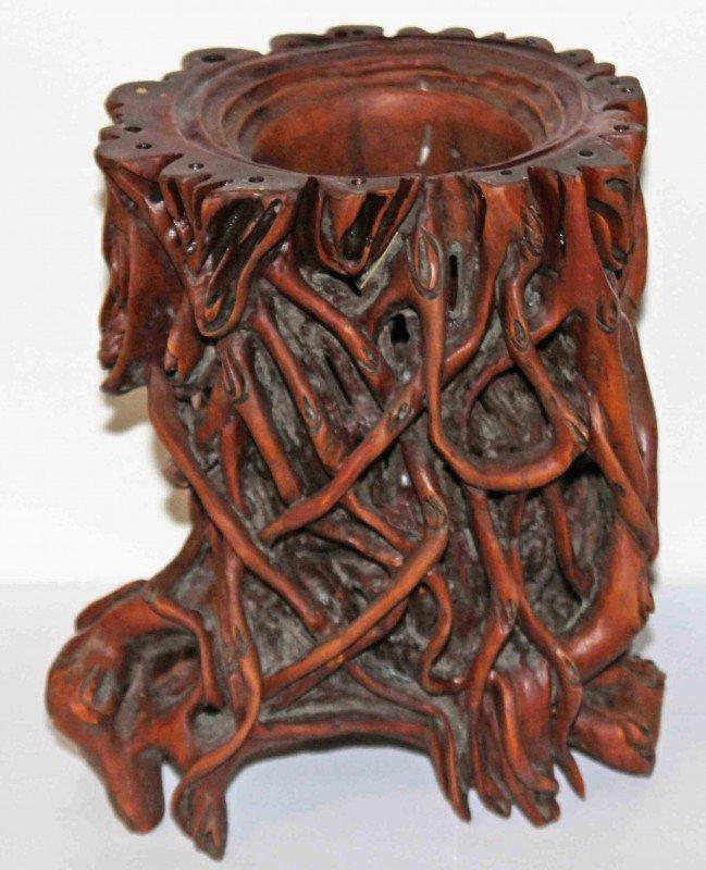12: Chinese Root Brush Pot
