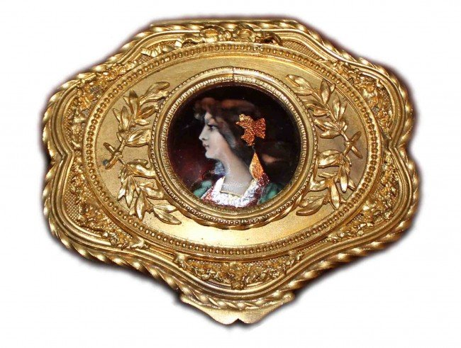 14: 19th Century French Bronze & Enamel Box