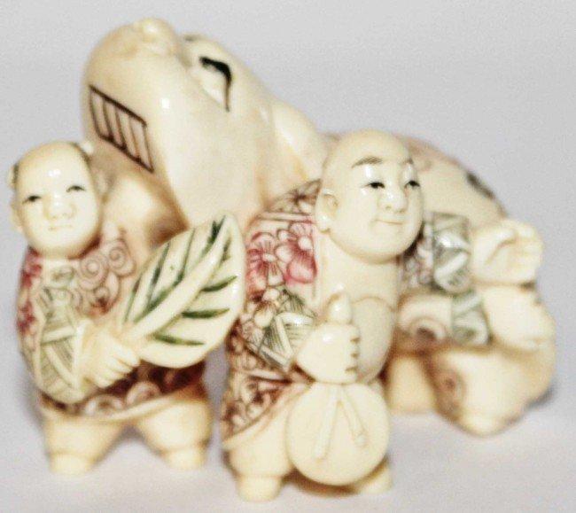16: Japanese Ivory Boy's Day Netsuke