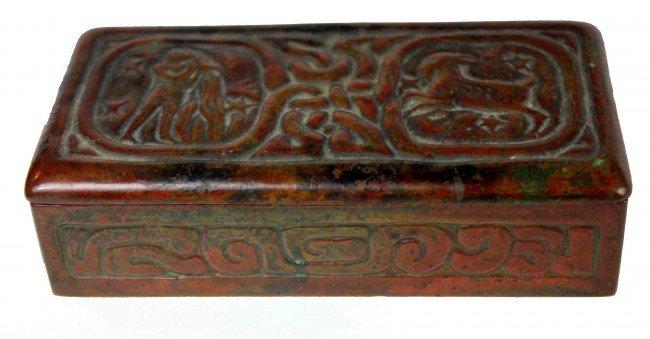19: Tiffany Studios Zodiac Stamp Box