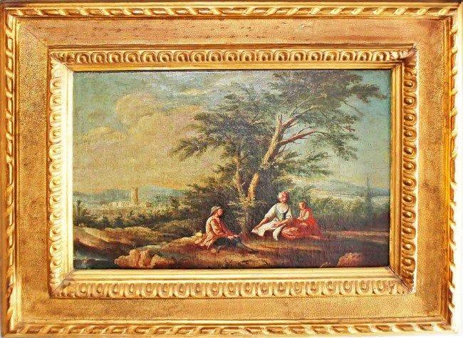 21: Beautiful Pastoral Oil Painting