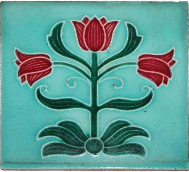 4: Arts & Crafts Majolica Tile