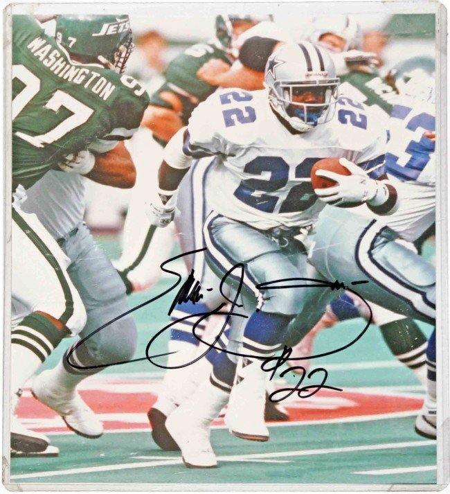 22: Autographed Photo of Emmitt Smith-Dallas Cowboys