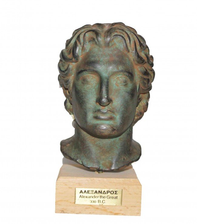 239: Cast metal head of Alexander the Great