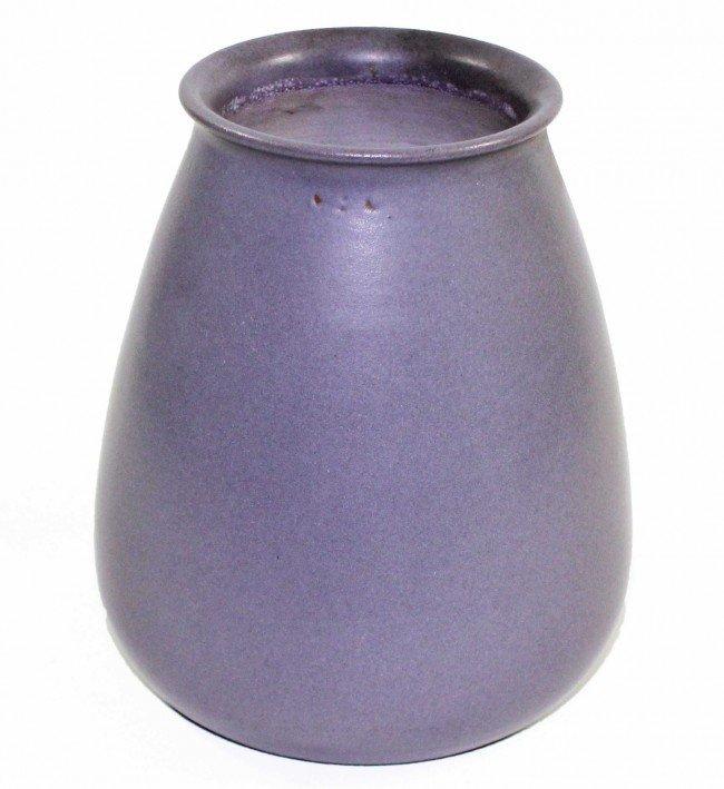 15: Marblehead Pottery Squat Vase --Purple