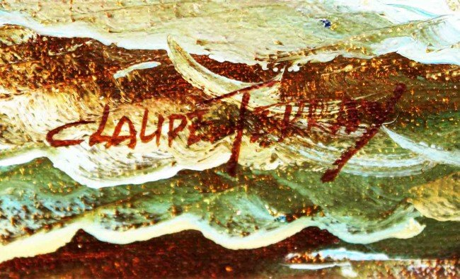 54: Framed Claude Terray Oil Seascape - 2