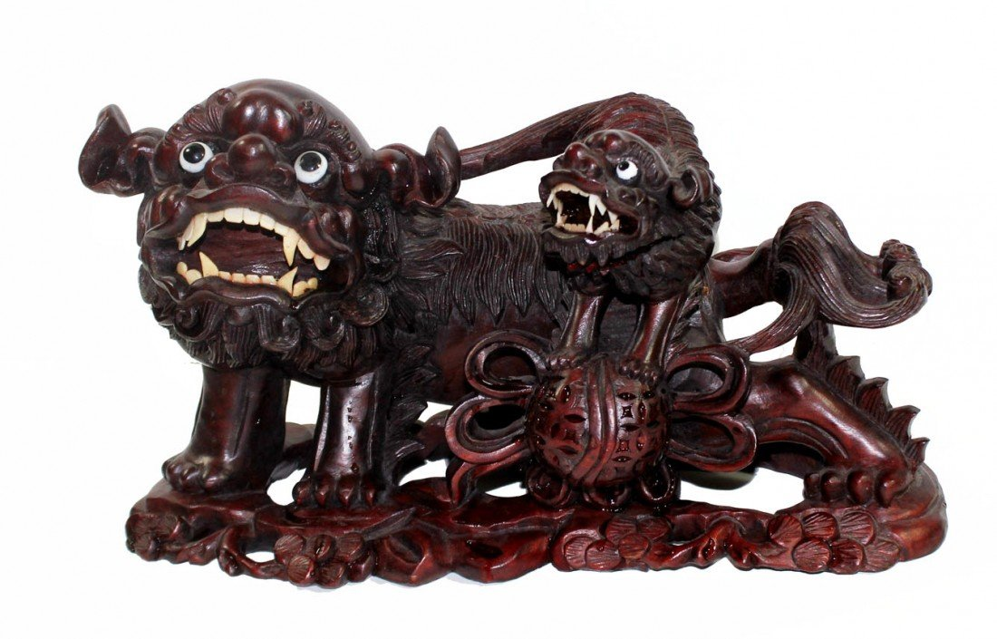 2:  Wooden Foo Dogs