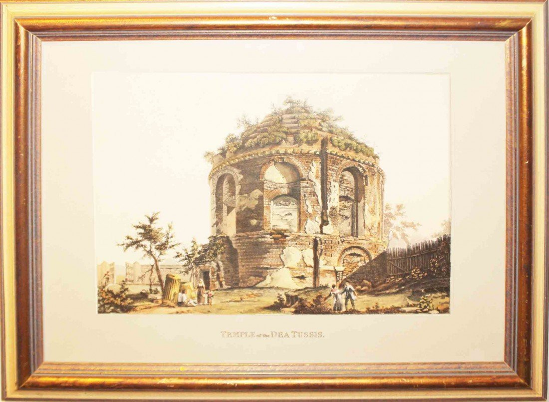 17: Framed Print of Temple of the Dea Tussus
