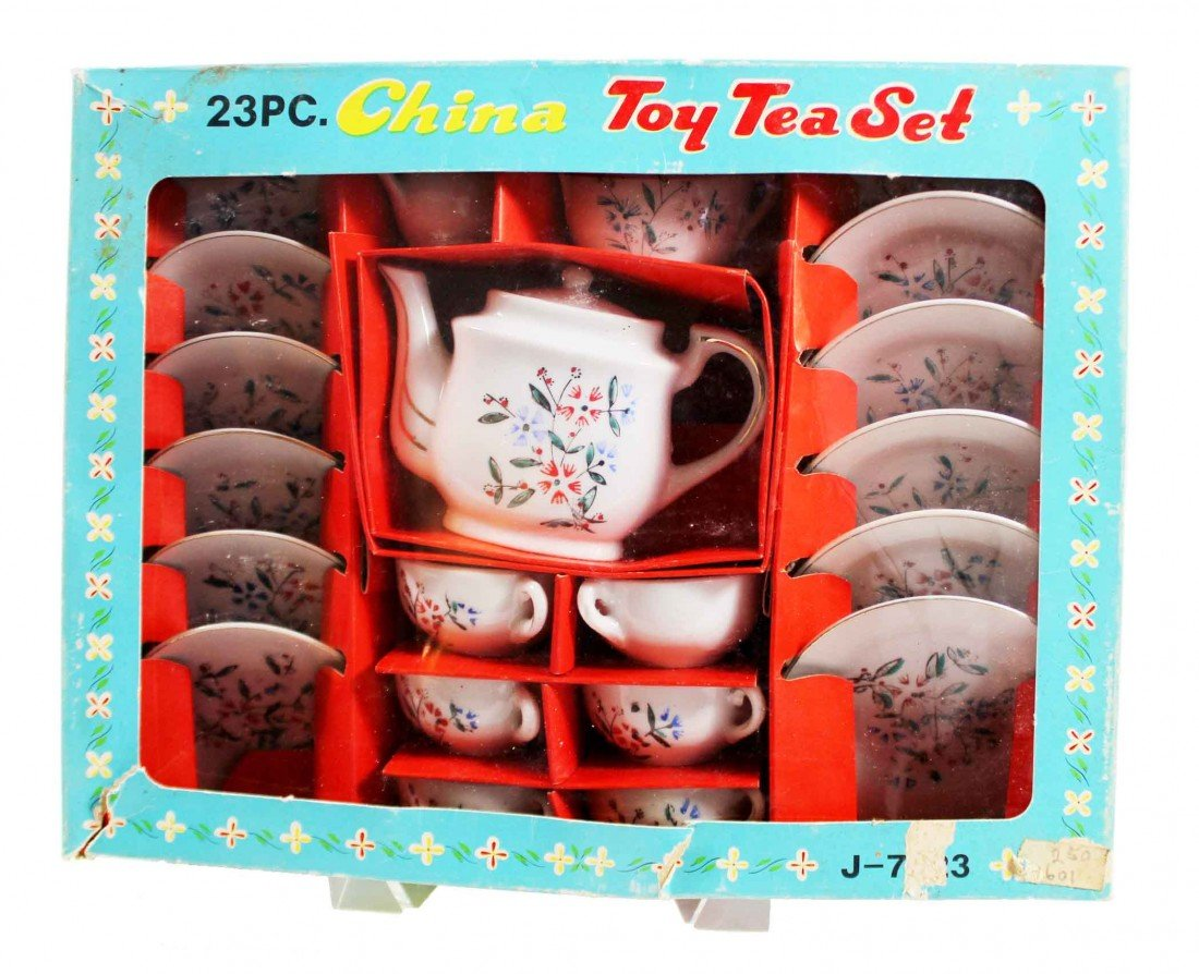 21: Toy Tea set in original box