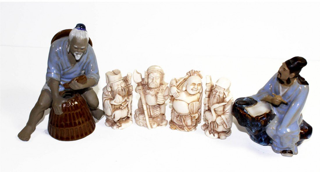 22: Lot of Asian Figurines