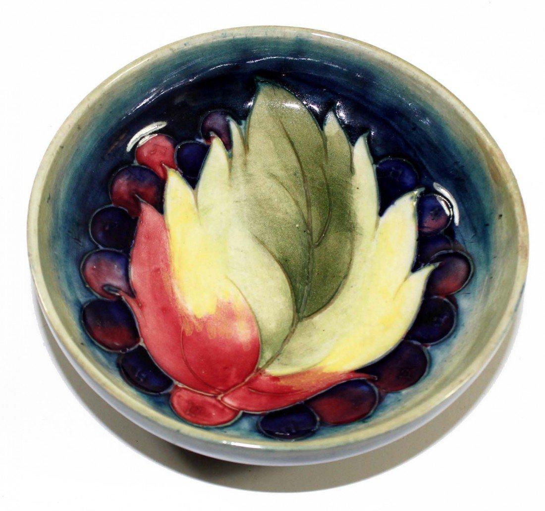 209:  Moorcroft Dish--Flambe Leaf and Berries
