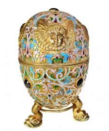 272: Silver Enamel Russian Style Egg