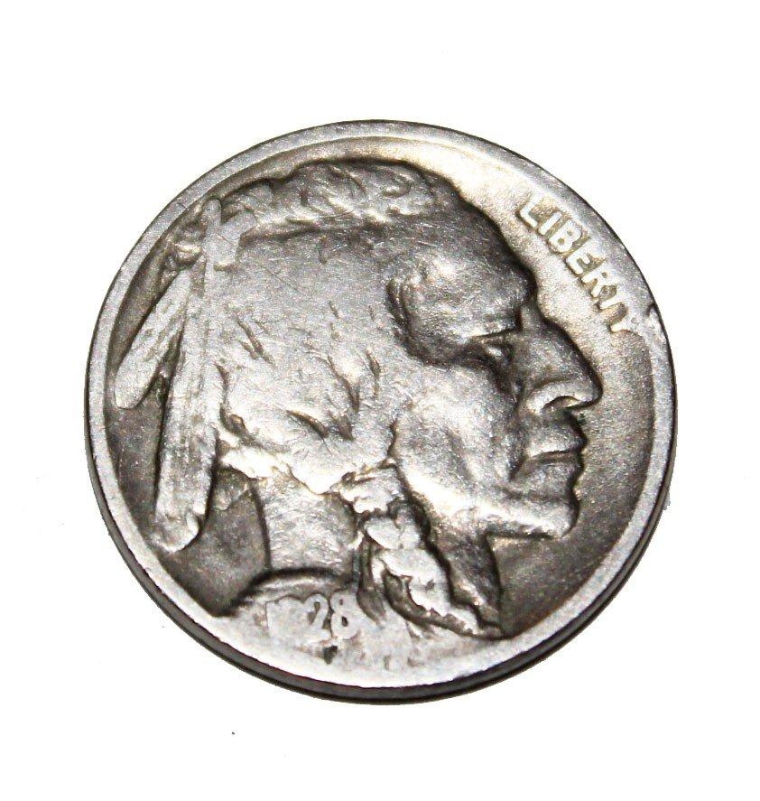 242: 1928  Indian Head Nickel