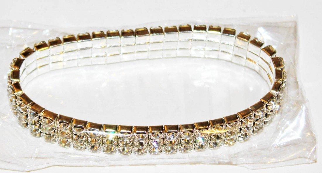 20: Bracelet With 3 Rows & 126 Rhinestones