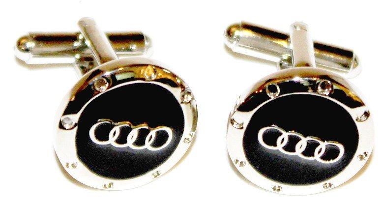 24: New Pair of Metal Audi Cufflinks