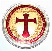 144: 100 Mills 24k Gold Knights Templar Clad Coin
