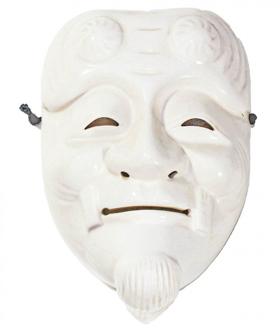 23: White Ceramic Noh Mask