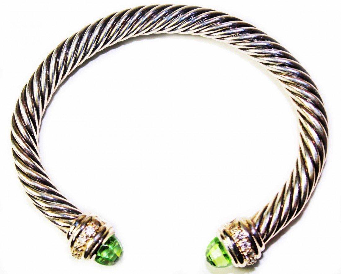 137: David Yurman 7mm Prasiolite Cable Bracelet