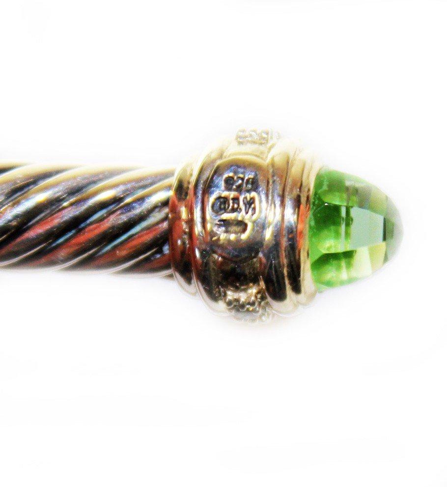 137: David Yurman 7mm Prasiolite Cable Bracelet - 2