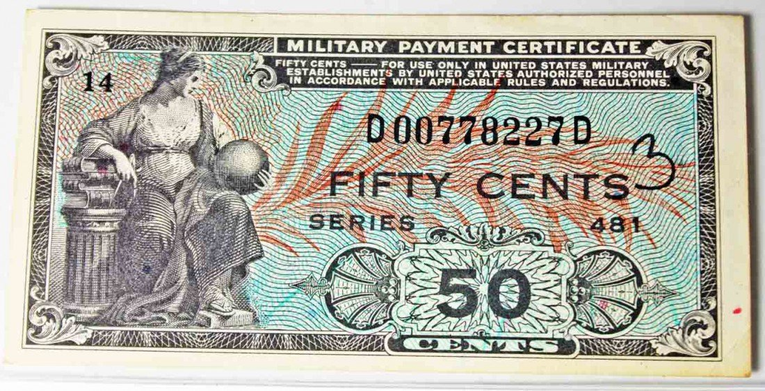 65: Military Payment Certificate Series 481 50 cents - 2