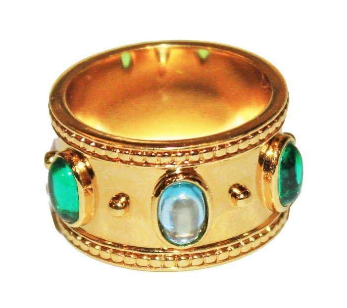 1: St. Clair Gold Plated Ring Sz. 8