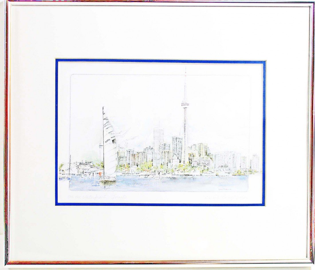 7: Framed Color Drawing of Toronto