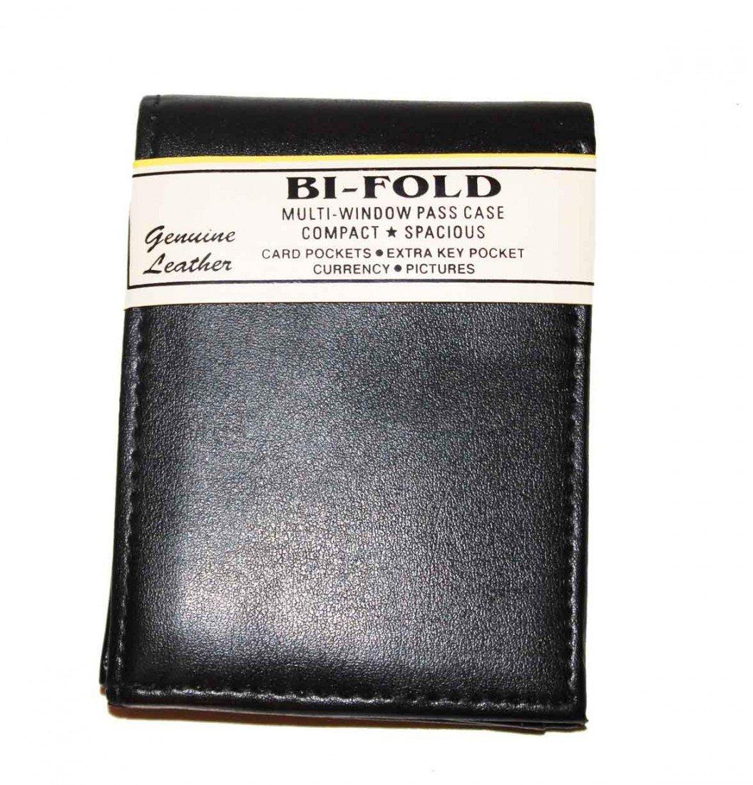 10: New Black Leather Bi-Fold Wallet